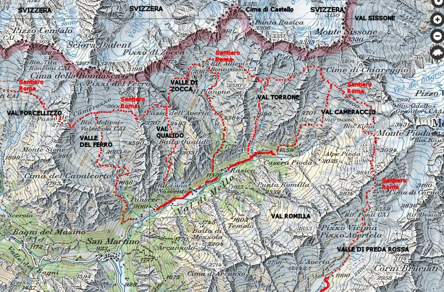 La Val di Mello, in Val Masino