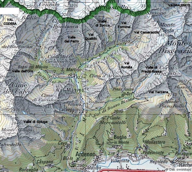 Il comune di Val Masino